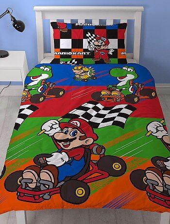Dekbedovertrekset van 'Mario Kart' voor 1 persoon - Kiabi