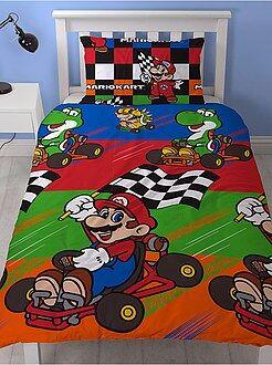 Dekbedovertrekset van 'Mario Kart' voor 1 persoon