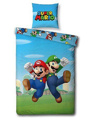 Woongoed - Dekbedovertrekset van 'Super Mario' - Kiabi
