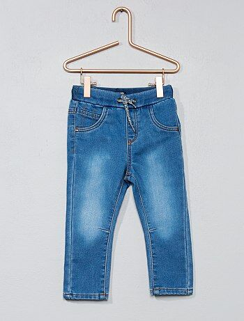 Denim broek van comfortabel tricot - Kiabi