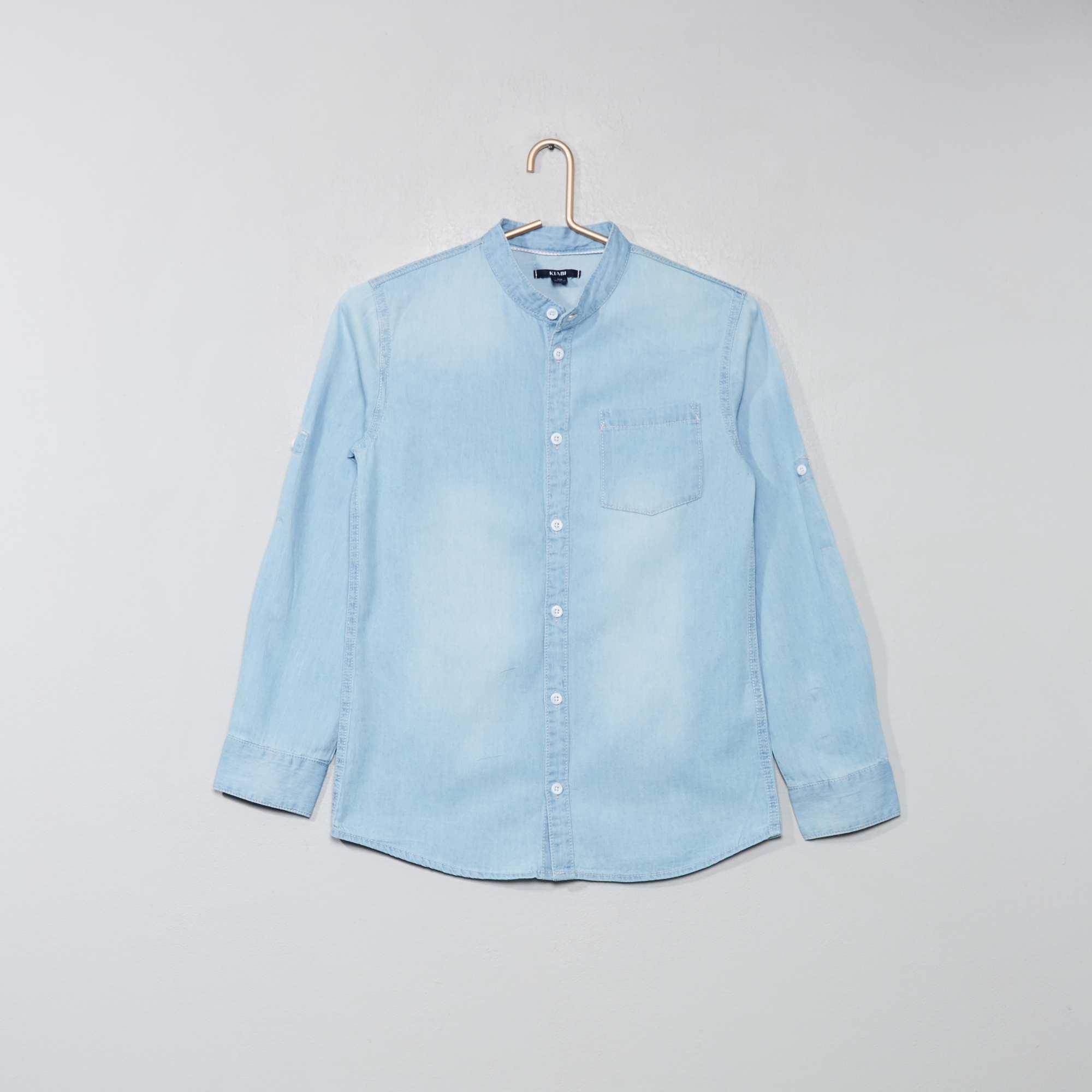Overhemd Blauw.Denim Overhemd Kinderkleding Jongen Blauw Kiabi 10 50