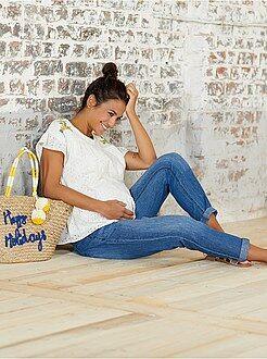 Zwangerschapskleding - Denim positiebroek - Kiabi