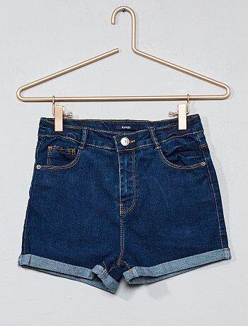 Denim short met hoge taille - Kiabi
