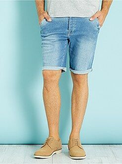 Herenmode maat S-XXL Denim stretch bermuda