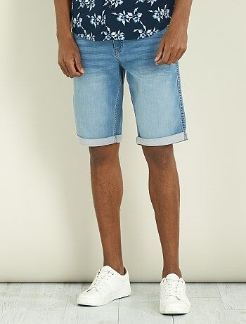 Denim stretch joggbermuda - Kiabi