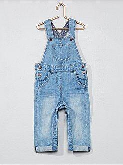 Broek, jeans - Denim tuinbroek