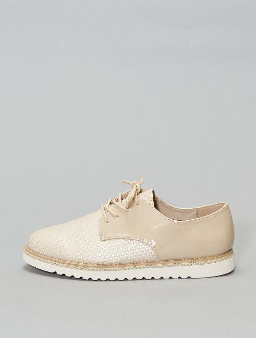 Derby's met gevlochten effect                                         beige Schoenen