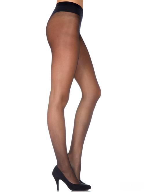 Dim panty 'Sublim Platte buik' 15D                                         zwart