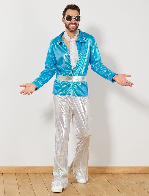 Disco verkleedkostuum                             blauw