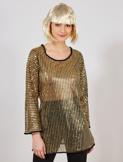 Disco verkleedkostuum                                                     goud