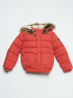 Kinderjassen - Doorgestikt donsjack met capuchon en warme voering