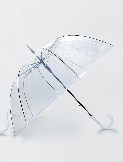 Doorzichtige paraplu                                 wit