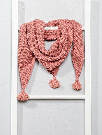 Driehoekige sjaal met kwastjes - Kiabi