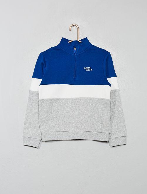 Driekleurige sweater                     BLAUW