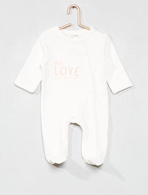 Ecodesign-pyjama met print                             WIT Meisjes babykleding