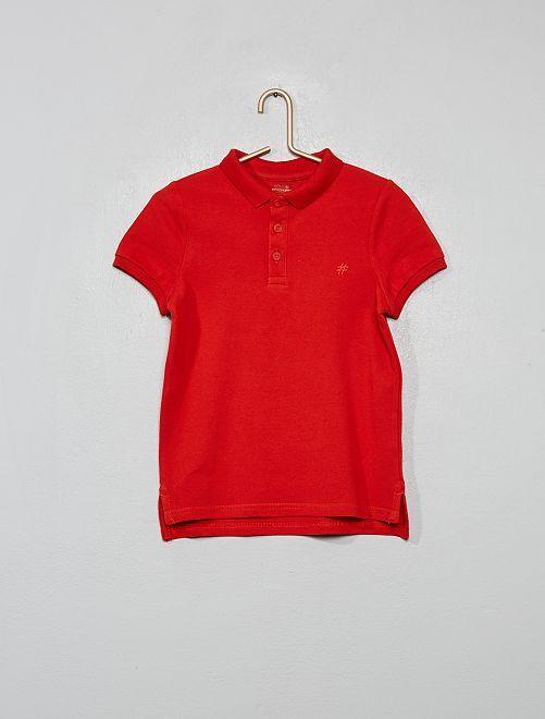 Ecologisch ontworpen polo van piquétricot                                                                                         rood