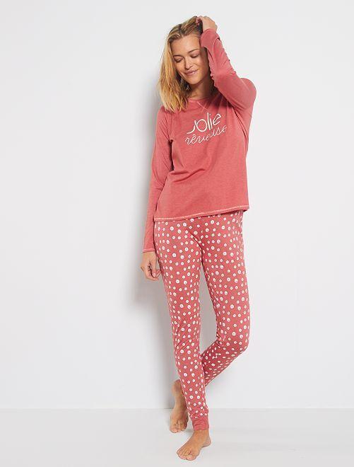 Ecologisch ontworpen pyjama                                                                 ROSE