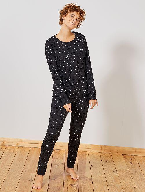 Ecologisch ontworpen pyjama                                                                 zwart