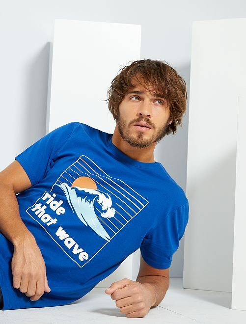 Ecologisch ontworpen T-shirt                                                                                         BLAUW