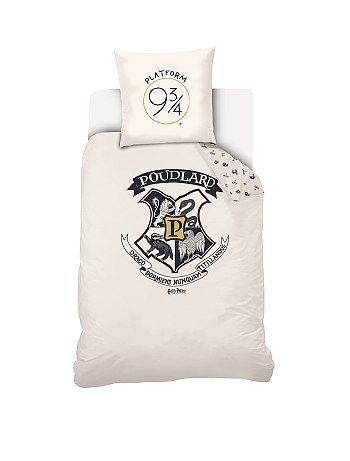 Eenpersoons dekbedovertrekset van 'Harry Potter' - Kiabi