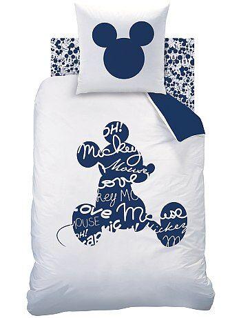 Eenpersoons dekbedovertrekset van 'Mickey', aan twee kanten bedrukt - Kiabi