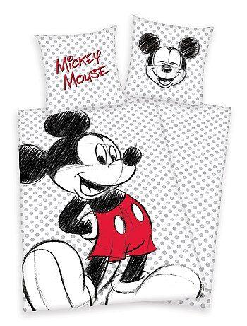 Woongoed - Eenpersoons dekbedovertrekset van 'Mickey Mouse' - Kiabi