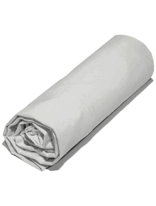 Effen hoeslaken 140 x 200 cm                                                                 grijs