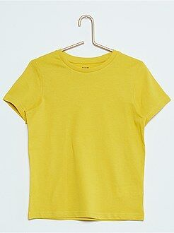 Effen, katoenen T-shirt