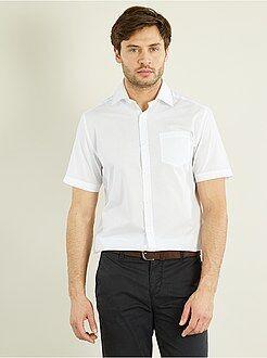 Herenmode maat S-XXL Effen overhemd recht model
