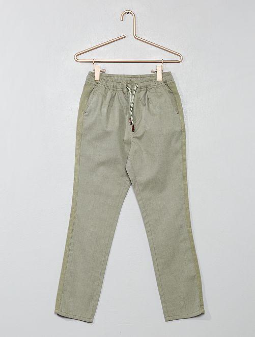 Effen regular broek                                                                                         KAKI Kinderkleding jongens