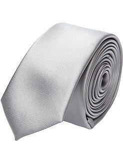 Kostuum - Effen satijnen stropdas
