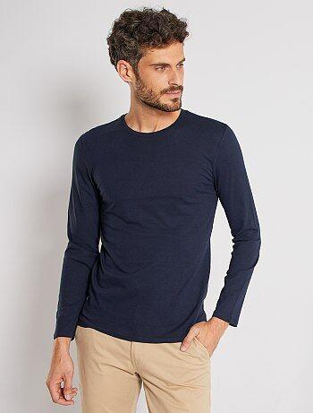 Effen T-shirt met lange mouwen - Kiabi