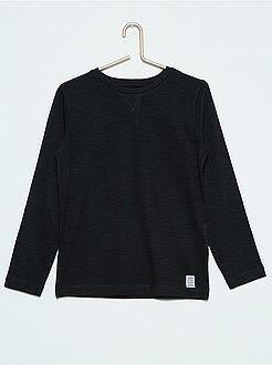 Jongens t-shirts - Effen T-shirt met lange mouwen
