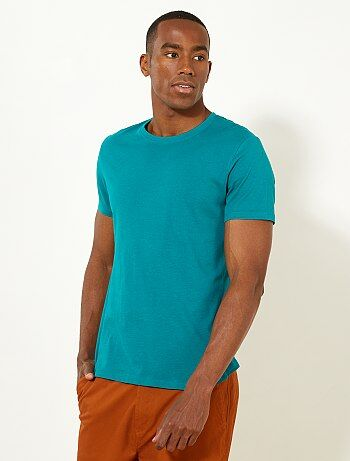 Effen T-shirt van tricot - Kiabi