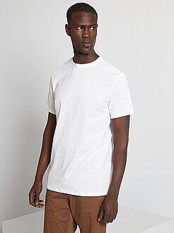 T-shirt - Effen T-shirt van tricot - Kiabi