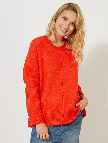 Effen trui van tricot - Kiabi