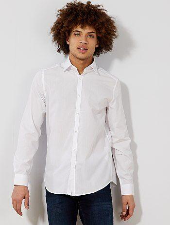 Effen wit overhemd met recht model - Kiabi
