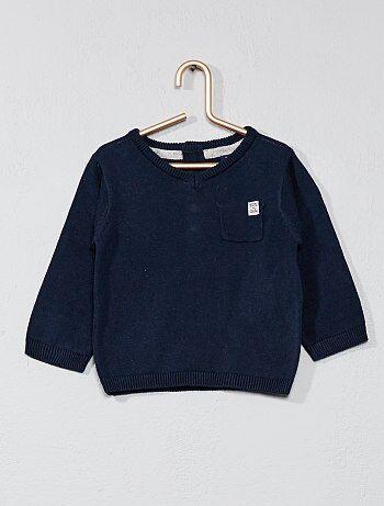Fijne tricot trui met een V-hals - Kiabi