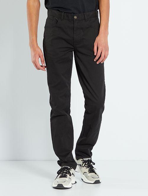 Fitted 5-pocket broek L36 voor 1,90 m+                                         zwart Herenkleding