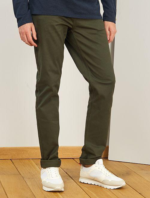 Fitted 5-pocket broek L38 voor 1,90 m+                                                                                         groen