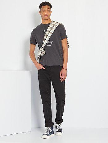 Fitted 5-pocket broek L38 voor 1,90 m+ - Kiabi