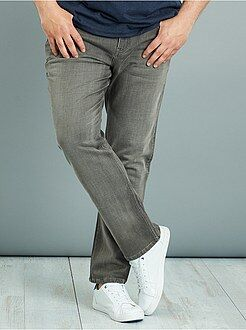 Fitted denim stretch broek