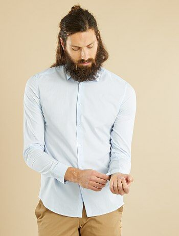 Fitted overhemd van gestreept katoen - Kiabi
