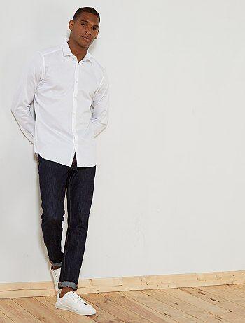 Fitted overhemd van getextureerd katoen - Kiabi