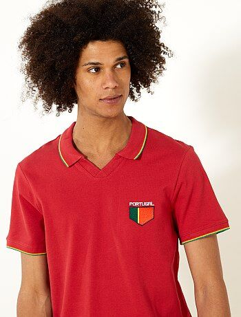 Herenmode maat S-XXL - Fitted polo Portugal - Kiabi