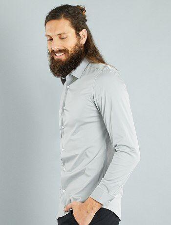 Fitted stretch overhemd - Kiabi