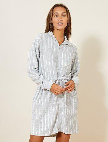Fleece badjas met een rits - Kiabi
