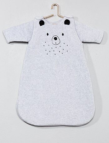 Meisje 0-36 maanden - Fluwelen babyslaapzak 'beer' - Kiabi