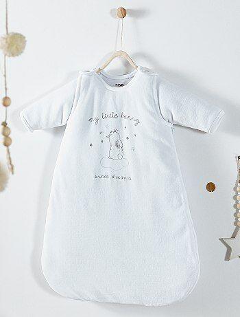 Fluwelen babyslaapzak met afneembare mouwen - Kiabi