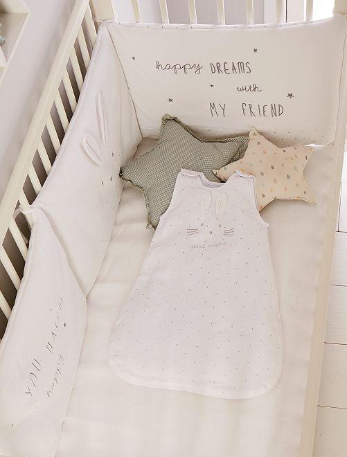 Wit Meisjes Bed.Fluwelen Bedomranding Konijn Meisjes Babykleding Wit Kiabi
